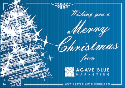 Christmas Greetings from Agave Blue Marketing
